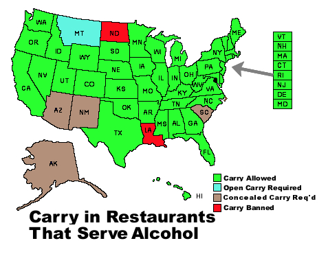 Concealed Carry in places that serve alcohol