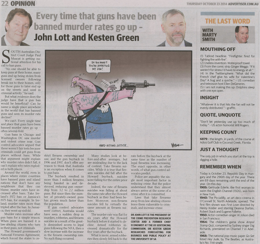 Lott-Kesten piece in the Advertiser