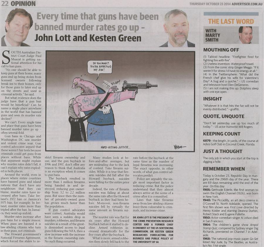 Lott-Kesten piece in the Advertiser