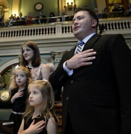 Rep. Patrick Neville and his wife Kristi and daughters
