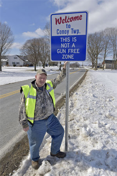 This is not a gun free zone sign
