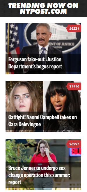 Trending at NY Post Ferguson Report