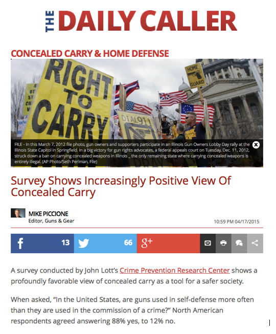 Daily Caller Coverage of Researcher Survey
