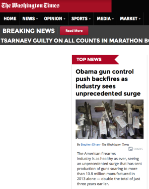WT front page on gun sales