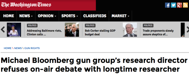 Washington Times Bloomberg