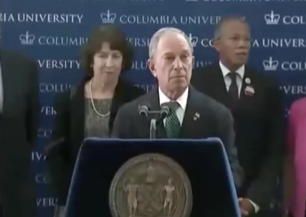 Michael Bloomberg at Columbia University