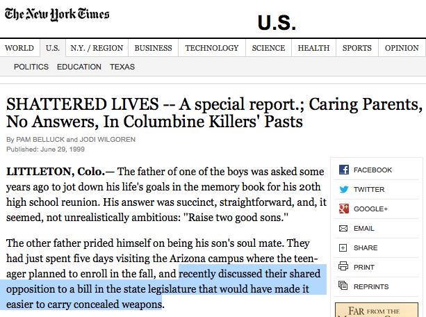 NYTimes on Keybold opposing Concealed Handgun Law