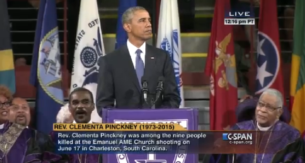 Obama Eulogy for Pinckney Gun Control