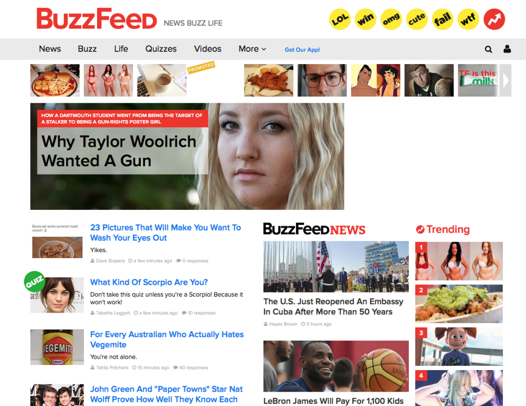 Buzzfeed story back at the top of the page
