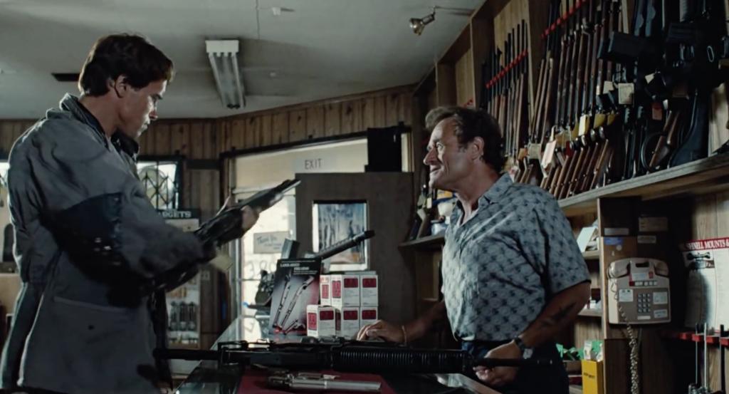Gun store scene