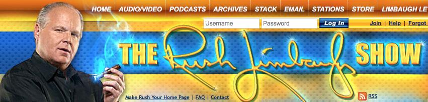 Rush Limbaugh Show Banner