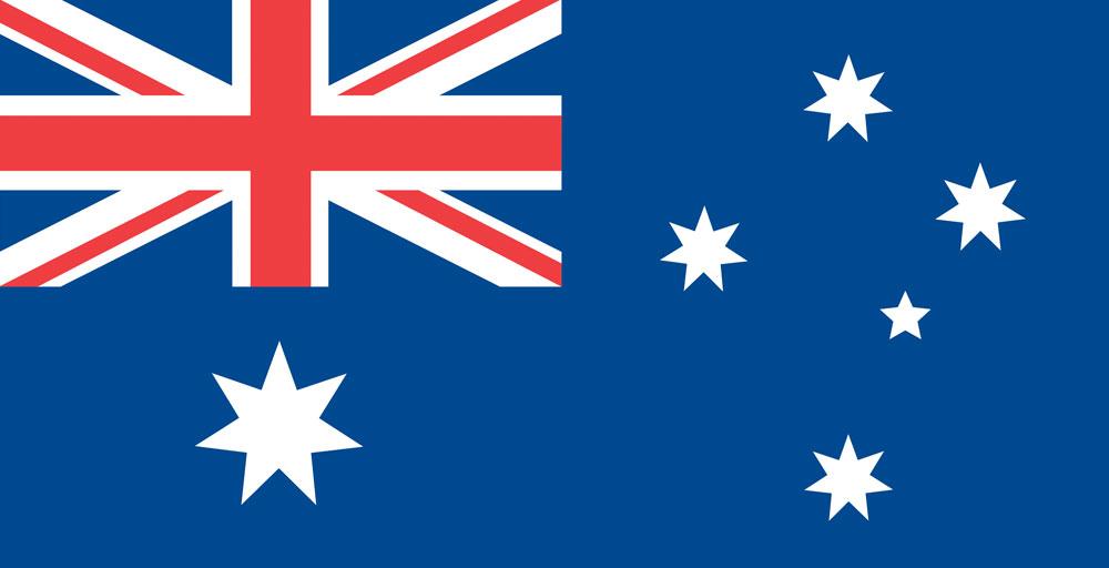 Australia flag_template_colour