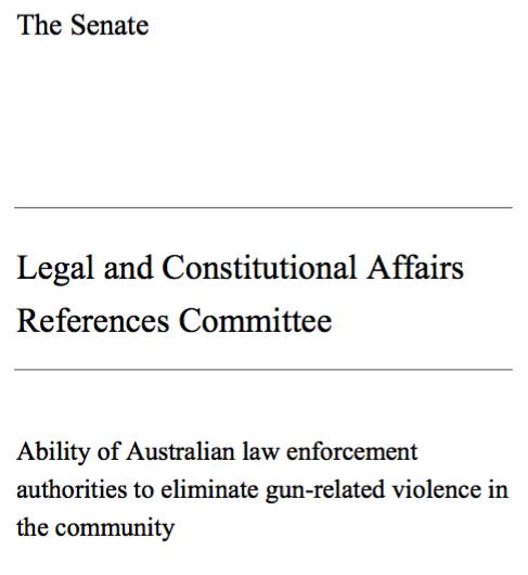 Australian Senate Report