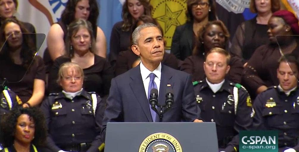 Obama Dallas Police Memorial Service
