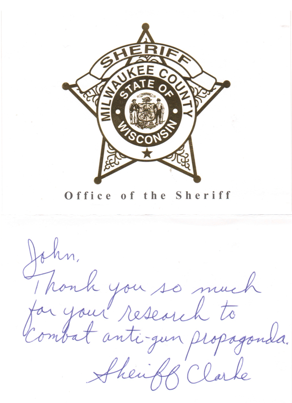 Sheriff David Clarke Card