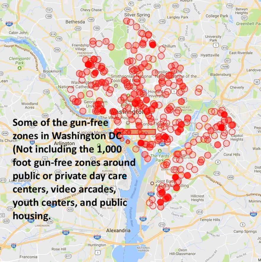 DC's Gun-free Zone Problem: Regulations effectively ban anyone from on