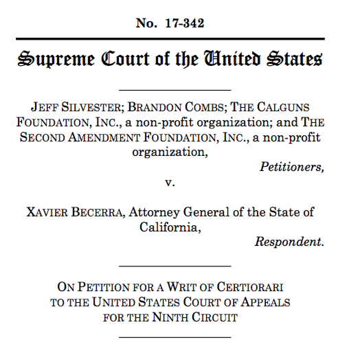 Cprc files writ of certiorari for silvester with the supreme court.