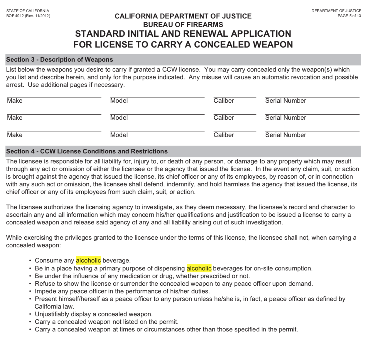 California concealed handgun permit application - Crime ... on ninja weapons, ccw weapons, dangerous weapons, green weapons, all weapons, unconcealed weapons, cold weapons, covert weapons, hidden weapons, disguised weapons, guns weapons, red weapons, compact weapons, black weapons, hiding weapons, homemade weapons, cool weapons, zombie weapons, concealing weapons, tactical weapons,